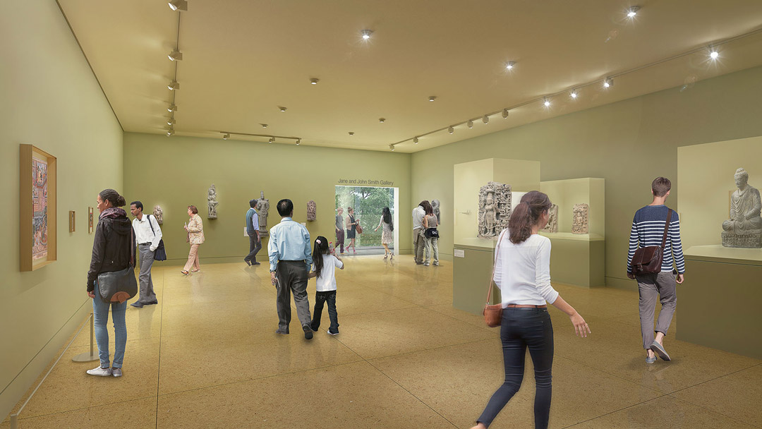 Rendering of new art gallery