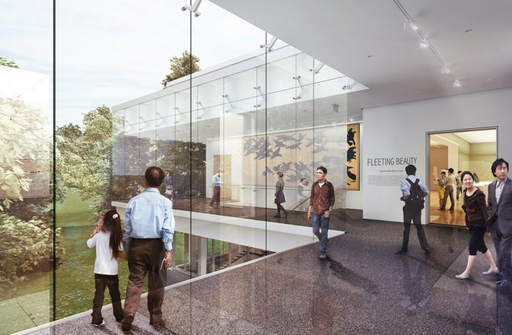 Rendering of new park lobby