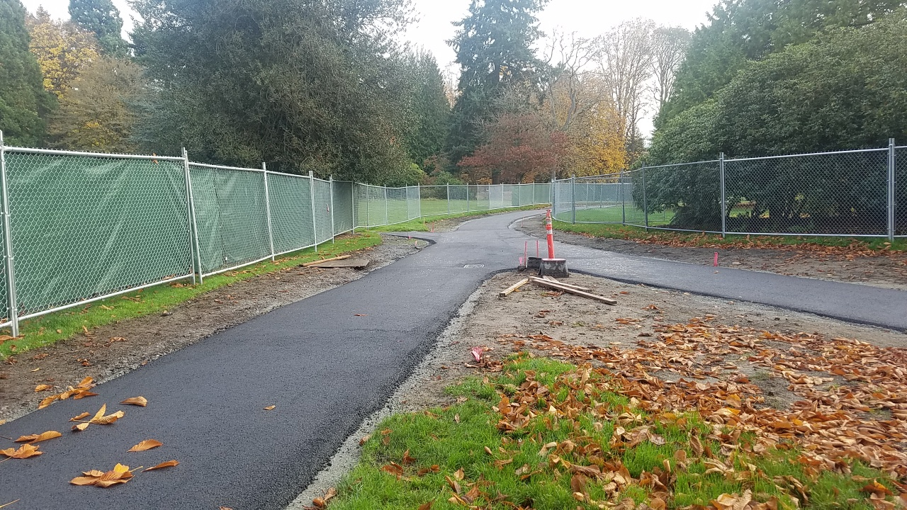 Photo of the Olmsted Path as work progresses